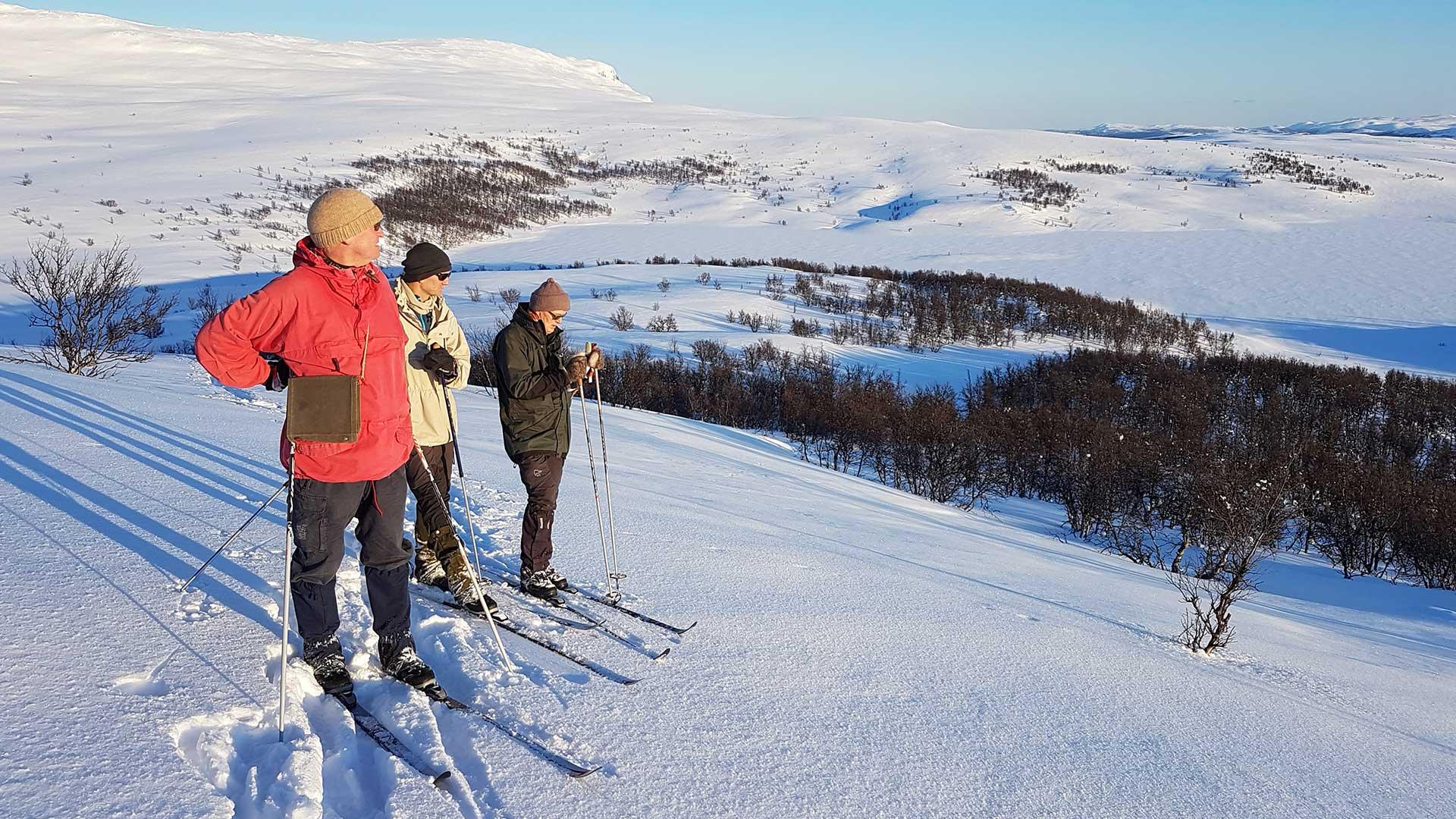 Skiing in Langsua.